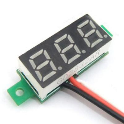 0.28 inch 0-100V Three Wire DC Voltmeter Red