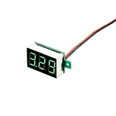 0.28 inch 3.5-30V Two Wire DC Voltmeter Green