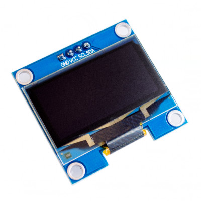 0.96 inch I2C/IIC 128x64 OLED Display Module 4 Pin - White Color