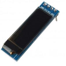 0.91 inch I2C/IIC 128x32 Serial 4-Pin OLED Display Module - White