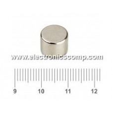 10mm x 8mm - Neodymium Cylindrical shaped Strong Magnet