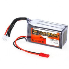 11.1V - 1000mAH - (Lithium Polymer) Lipo Rechargeable Battery - 30C