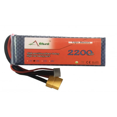 11.1V - 2200mAH - (Lithium Polymer) Lipo Rechargeable Battery - 30C