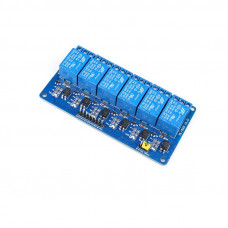 6 Channel 12V Relay Module with Optocoupler