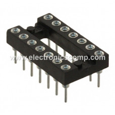 14 Pin Machined IC Base/Socket (Round Holes)