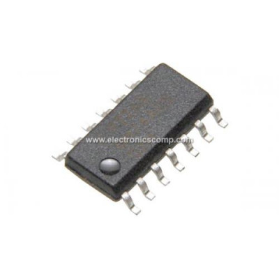 74LS06 IC - (SMD Package) - Hex Inverter -Buffer IC (7406 IC)