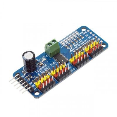 PCA9685 - 16 Channel 12-Bit PWM Servo Motor Driver I2C Module For Arduino