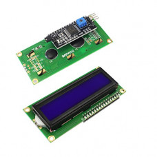 1602 (16x2) LCD Display with I2C/IIC interface - Blue Backlight