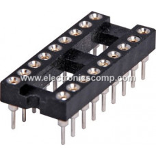 18 Pin Machined IC Base/Socket (Round Holes)