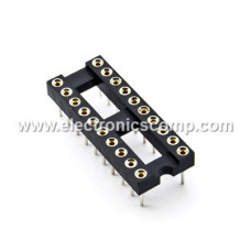 20 Pin Machined IC Base/Socket (Round Holes)