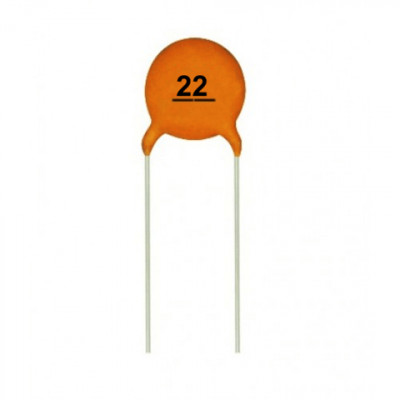 22pF 50V Ceramic Capacitor - 5 Pieces pack