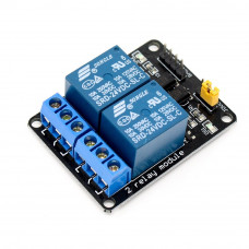 2 Channel 24V Relay Module with Optocoupler