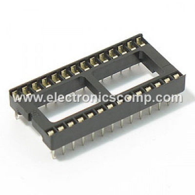28 Pin IC Base/Socket (DIP) - Wide - 2 Pieces Pack