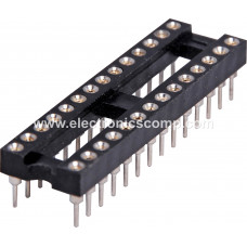 28 Pin Machined IC Base/Socket (Round Holes)