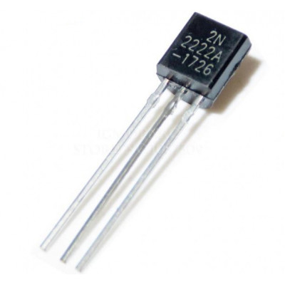 2N2222A NPN Bipolar Transistor TO-92 Plastic Package- 3 Pieces Pack
