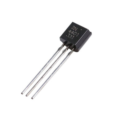 2N4401 NPN General Purpose Transistor 40V 600mA TO-92 Package - 5 Pieces Pack