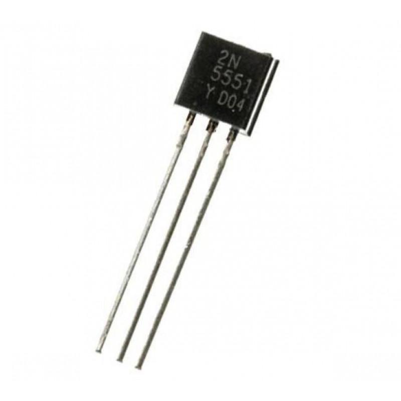 NPN Bipolar 180V 600mA 625mW TO92 2N5551 NPN THT-Transistors Transistor