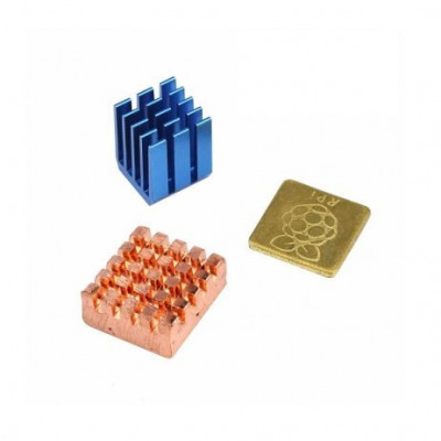 3 IN 1 Heat Sink Set for Raspberry Pi 3 (with RPI Logo)