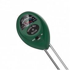 3 Way Soil Meter For Moisture, Light Intensity and pH Testing Meter