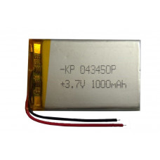3.7V 1000mAH (Lithium Polymer) Lipo Rechargeable Battery Model KP-043450