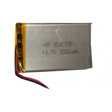 3.7V 1500mAH (Lithium Polymer) Lipo Rechargeable Battery Model KP-354070