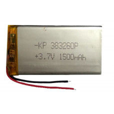 3.7V 1500mAH (Lithium Polymer) Lipo Rechargeable Battery Model KP-383260