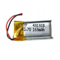 3.7V 160mAH (Lithium Polymer) Lipo Rechargeable Battery Model KP-401018