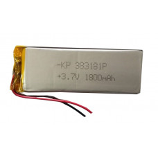 3.7V 1800mAH (Lithium Polymer) Lipo Rechargeable Battery Model KP-383181