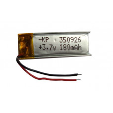 3.7V 180mAH (Lithium Polymer) Lipo Rechargeable Battery Model KP-350926