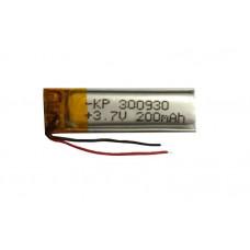 3.7V 200mAH (Lithium Polymer) Lipo Rechargeable Battery Model KP-300930