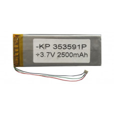 3.7V 2500mAH (Lithium Polymer) Lipo Rechargeable Battery Model KP-353591
