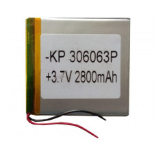 3.7V 2800mAH (Lithium Polymer) Lipo Rechargeable Battery Model KP-306063