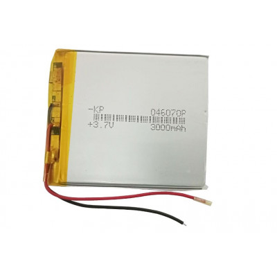 3.7V 3000mAH (Lithium Polymer) Lipo Rechargeable Battery Model KP-046070