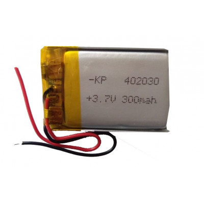 3.7V 300mAH (Lithium Polymer) Lipo Rechargeable Battery Model KP-402030