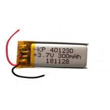3.7V 300mAH (Lithium Polymer) Lipo Rechargeable Battery Model KP-401230