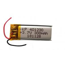 3.7V 300mAH (Lithium Polymer) Lipo Rechargeable Battery Model KP-401230