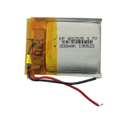 3.7V 300mAH (Lithium Polymer) Lipo Rechargeable Battery Model KP-402025