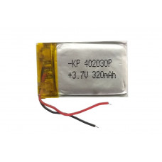 3.7V 320mAH (Lithium Polymer) Lipo Rechargeable Battery Model KP-402030