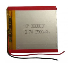 3.7V 3500mAH (Lithium Polymer) Lipo Rechargeable Battery Model KP-306063