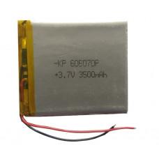 3.7V 3500mAH (Lithium Polymer) Lipo Rechargeable Battery Model KP-606070