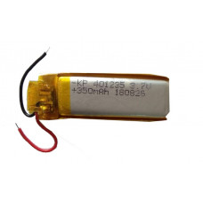 3.7V 350mAH (Lithium Polymer) Lipo Rechargeable Battery Model KP-401235