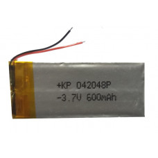 3.7V 600mAH (Lithium Polymer) Lipo Rechargeable Battery Model KP-042048