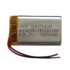 3.7V 600mAH (Lithium Polymer) Lipo Rechargeable Battery Model KP-042540
