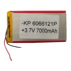3.7V 7000mAH (Lithium Polymer) Lipo Rechargeable Battery Model KP-6066121
