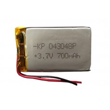 3.7V 700mAH (Lithium Polymer) Lipo Rechargeable Battery Model KP-043048