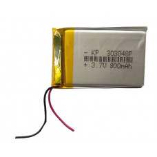 3.7V 800mAH (Lithium Polymer) Lipo Rechargeable Battery Model KP-303048