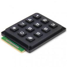 4x3 12-key Keyboard / Keypad Telephone Style - Black