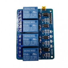 4 Channel 12V Relay Module with Optocoupler