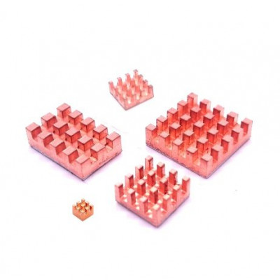 5 in 1 Pure Copper Heat Sink for Raspberry 4 Model B