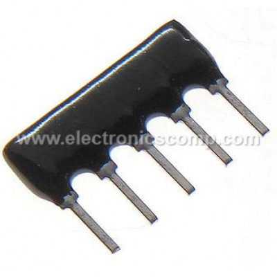 10k ohm - 5 Pin Resistor Network - SIP